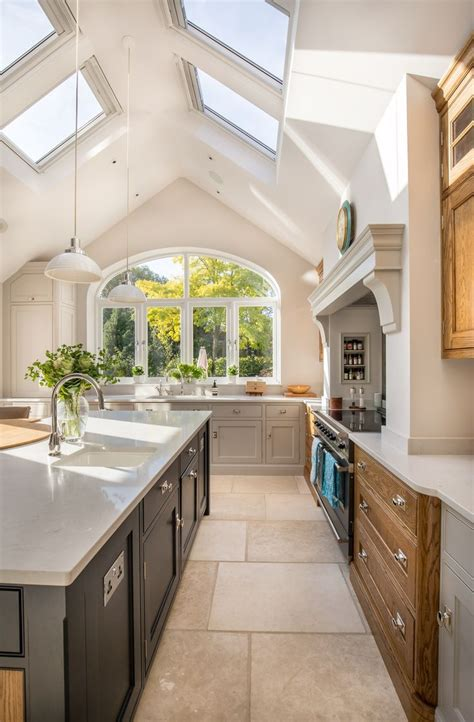 vaulted ceiling kitchen ideas lighting high ceilings trends cabinets kitchens white small cathedral tray pedircitaitvcom