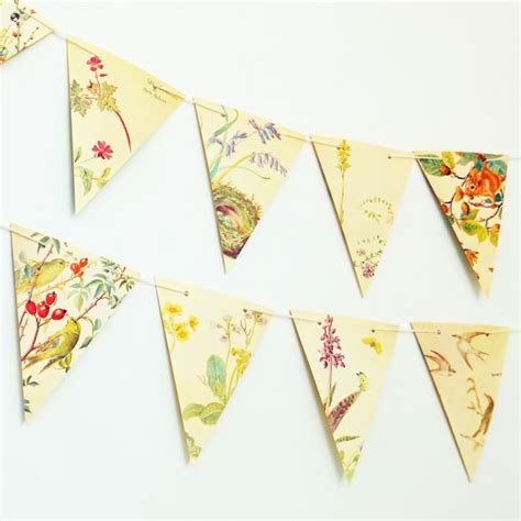 Paper Bunting - nature bunting paper garland paper bunting recycled