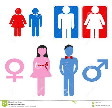 imagenes simbolos hombre y mujer s 237 mbolos del hombre y de la mujer stock de ilustraci 243 n