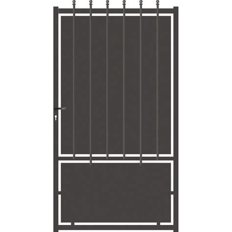 porte de 100 portillon battant cr 234 te festonne l 100 x h 185 cm gris anthracite leroy merlin