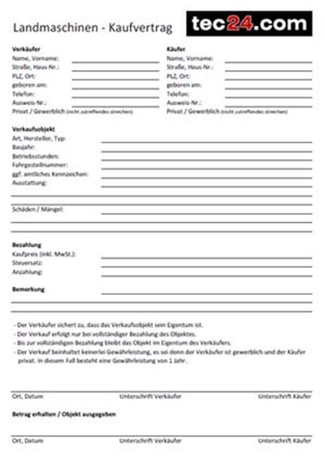 Motorrad Kaufvertrag Mit Anzahlung by Kaufvertrag F 252 R Landmaschinen Und Traktoren