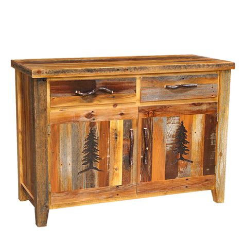 buffet with drawers barnwood 2 drawer 2 door buffet with tree carving and