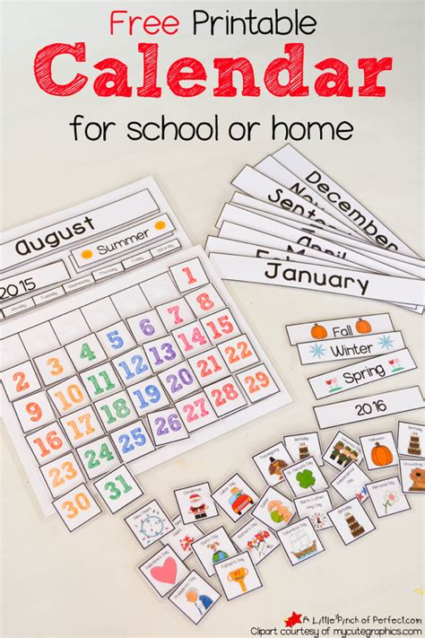 calendars for children to make free printable interactive preschool calendar preschool