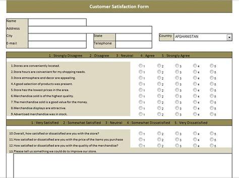 Spreadsheetzone Free Excel Spread Sheets Customer Satisfaction Survey Template Excel