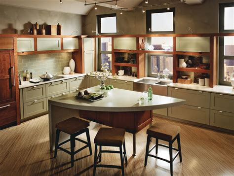 kraftmaid kitchen island recycled content cabinets from kraftmaid ecobuilding pulse magazine green products cabinets