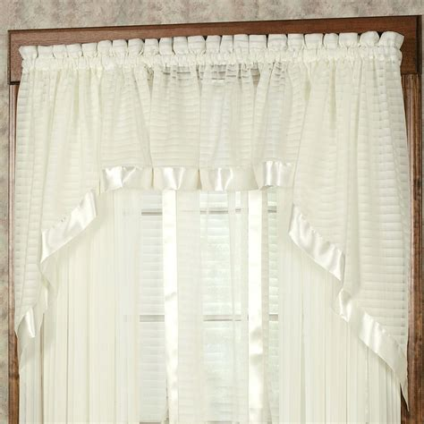 how to swag curtains swag valances for windows craftmine co
