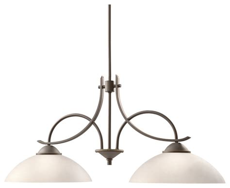 Transitional Island Lighting Kichler Kichler Lighting Olympia 2 Light Island Chandelier Reviews Houzz