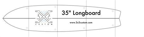 Longboard Design Template by Diy Longboard 3x3 Custom