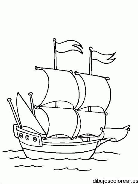 los barcos de cristobal colon para colorear dibujos de carabelas de cristobal colon por separado imagui