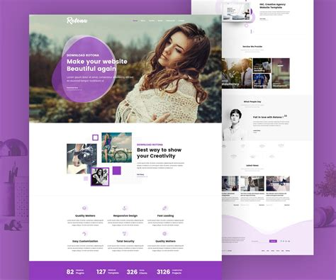 free html website templates for advertising agency creative agency free website template psd download