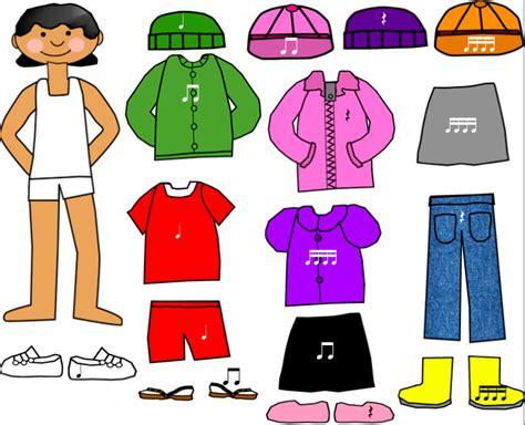 cardboard dolls house furniture templates paper doll cut out clipart 67