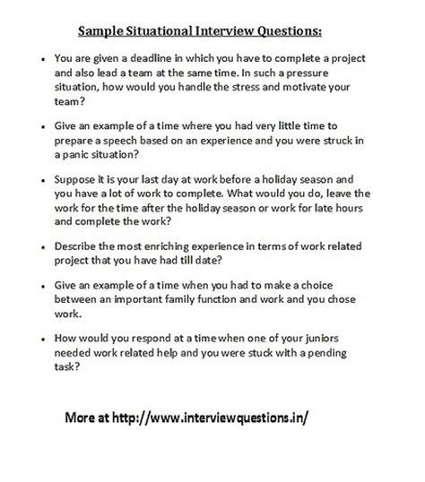 Resume Sle Questions And Answers Questions Situational 28 Images How To Get The Most