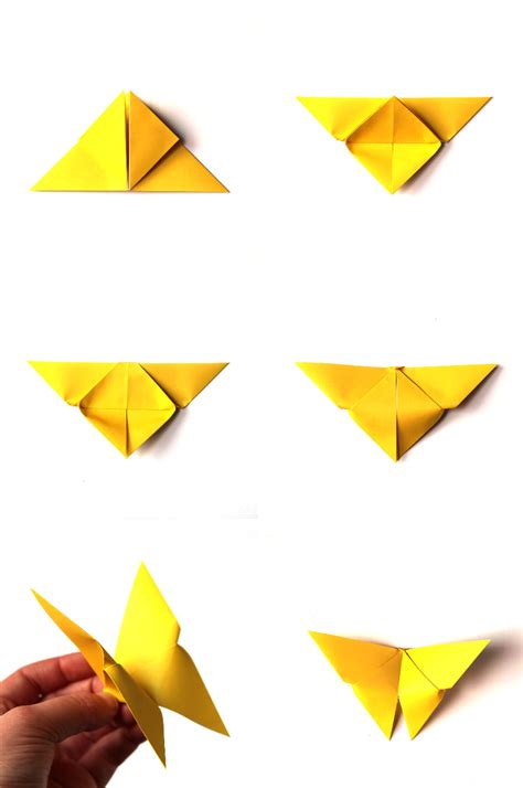 How To Make Butterfly In Paper - make it monday easy origami butterflies gathering