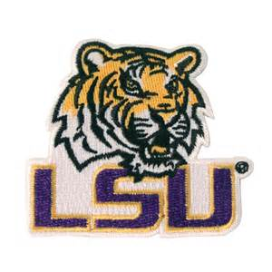 Lsu by Lsu Embroidered Patch Mike W Purple Lsu Images