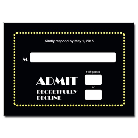 Broadway Ticket Save The Date Card With Magnet Broadway Ticket Save The Date Card With Magnet Broadway Show Ticket Template