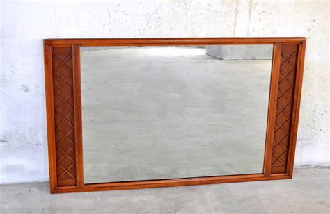 mid century modern mirror select modern large mid century modern walnut mirror