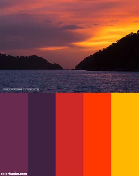 sunset color scheme 17 best images about color schemes on st