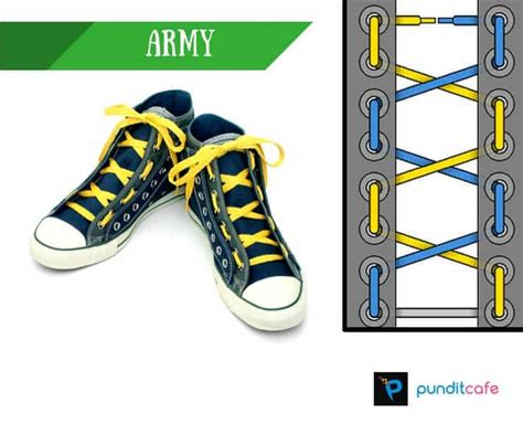 army lacing pattern shoelace styles 10 cool ways to tie shoelaces pundit cafe