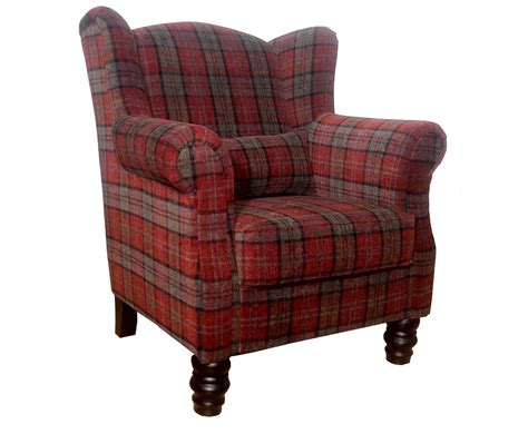 Armchairs Uk William Claret Tartan Fireside Armchair Uk Delivery