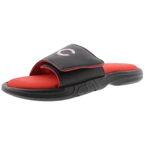 mens memory foam sandals fila 7659 mens mlb hudson memory foam printed slide