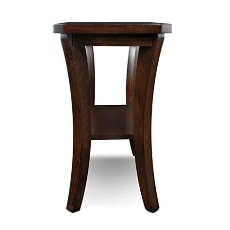 thin accent table leick furniture boa collection solid wood narrow chairside