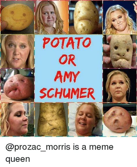 Amy Schumer Meme - potato or amy schumer is a meme queen amy schumer meme