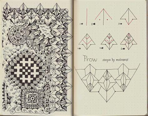 zentangle new pattern new pattern prow rhodia journal swap zentangle life
