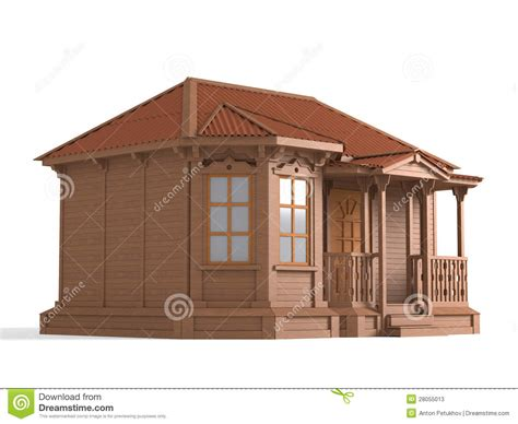 small model house plans 3d model of wooden house stock illustration image of windows 28055013