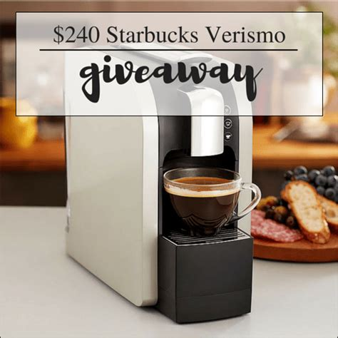 Coffee Maker Giveaway - starbucks verismo coffee maker giveaway 240 a helicopter mom