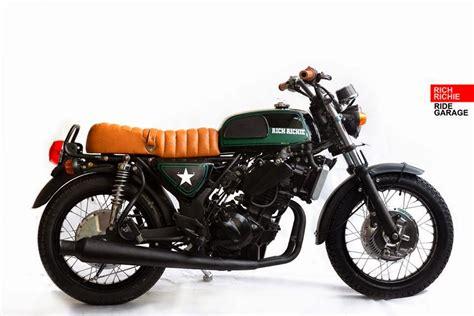 Kaos Kawasaki Racing 8 modifikasi motor keren ala custom bike asal