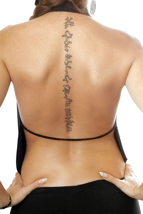 back tattoo easy 25 cool spine tattoos for men and women spine tattoos