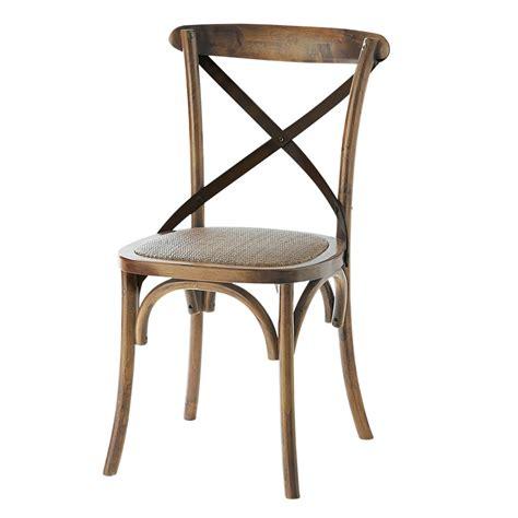 chaise en rotin naturel et ch 234 ne effet vieilli tradition