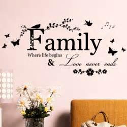 family home decor creative quote