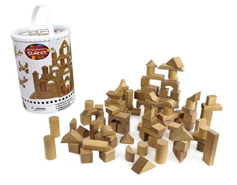 wooden blocks 100 wood building block set carrying