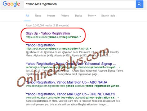 email yahoo register yahoo mail sign up form from www google com yahoo com