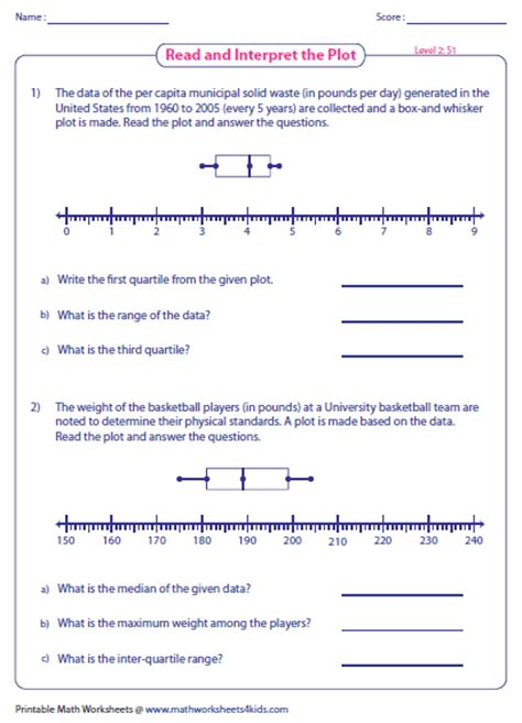 Box And Whisker Plot Worksheet Pdf by Box And Whisker Plot Worksheets