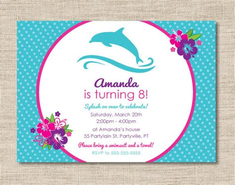 printable birthday cards with dolphins personalized dolphin birthday party invitations diy printable