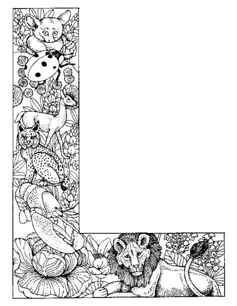 Alphabet L Coloring Pages by Free Coloring Pages Of Fancy Letter L