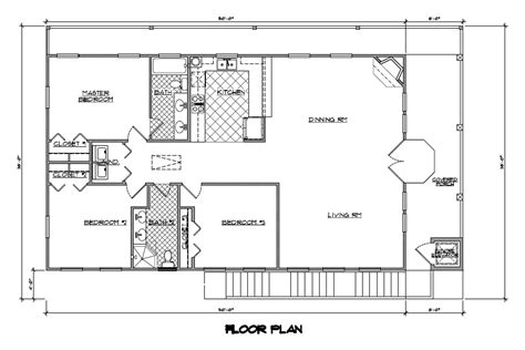 One Story House Plans With Open Concept Eva 1 500 1500 Square Foot Open Floor Plans