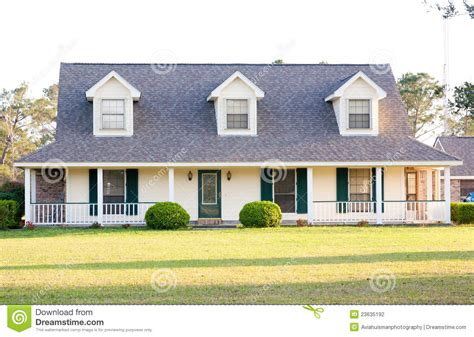 two story ranch style homes white ranch style american home stock photography image