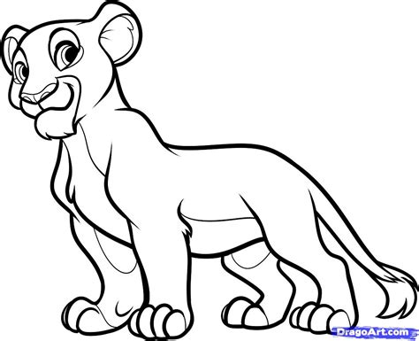 easy lion king coloring pages how to draw nala from the lion king step by step disney