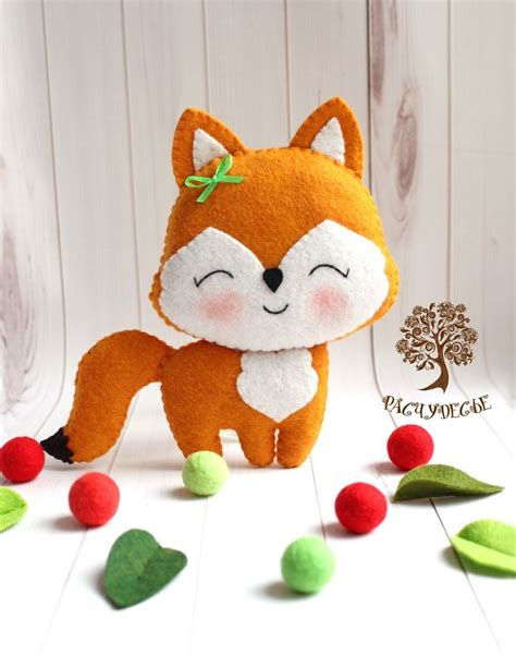 felt pattern tutorial diy cute felt fox free sewing pattern tutorial free