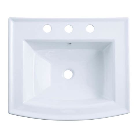 kohler archer pedestal sink kohler archer 20 7 16 in vitreous china pedestal sink
