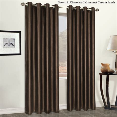 Faux Leather Grommet Curtain Panels