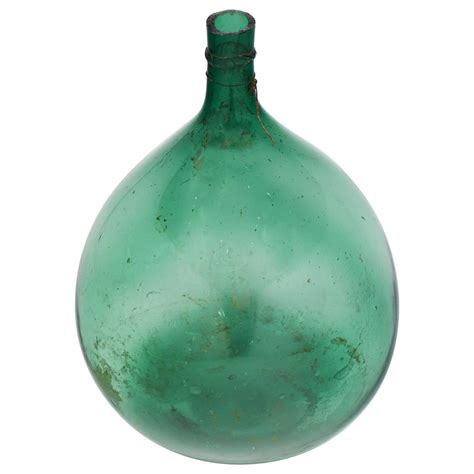 french antique green glass wine bottle jean marc fray