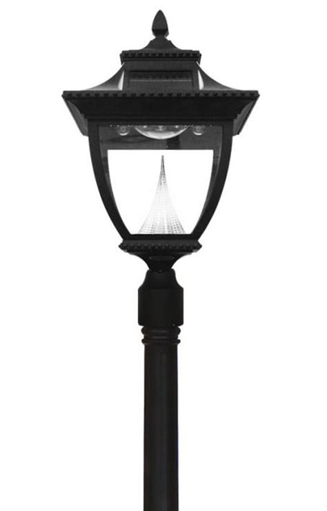 solar powered light post black pagoda solar powered l post light