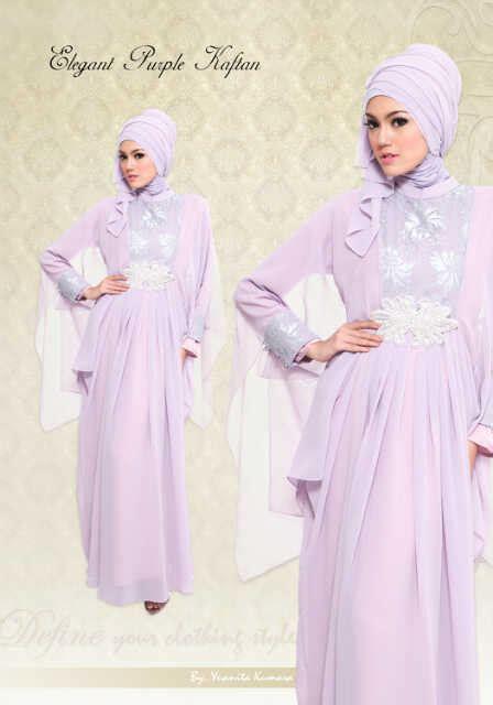 Arina Syar I Purple kaftan purple baju muslim gamis modern