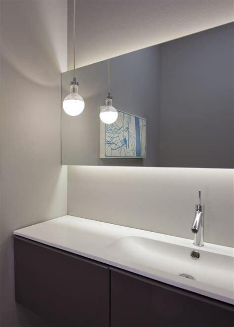 bathroom mirrors chicago chicago illuminated bathroom mirror spaces modern with