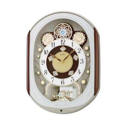 Jam Dinding Seiko Qxm276b Melodies In Motion jual seiko qxm276b melodies in motion musical wall clock