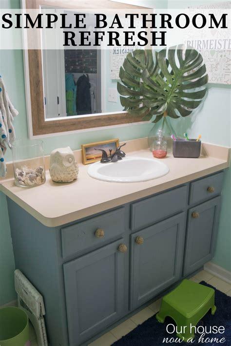 easy bathroom makeover ideas easy bathroom refresh simple makeover ideas our house now a home